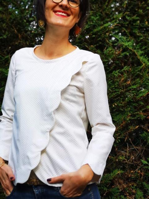 blouse festonnée couture