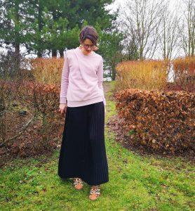 jupe plissée stragier couture