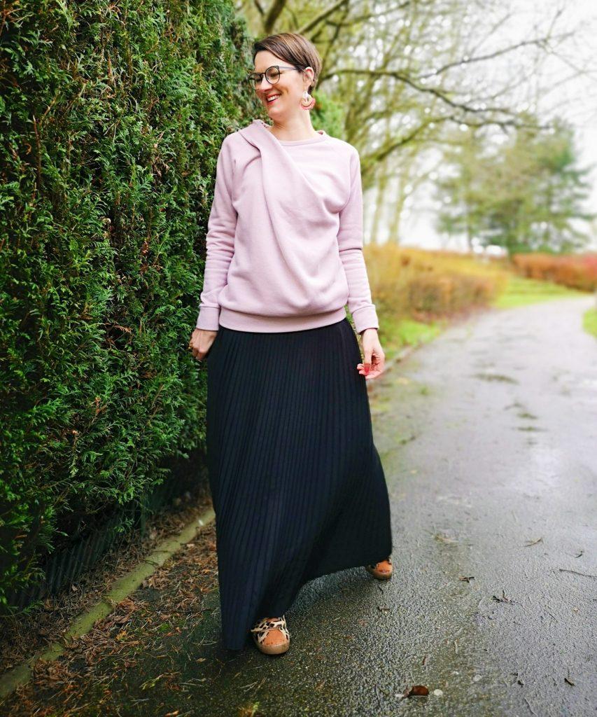 jupe plissée stragier sweat pull couture