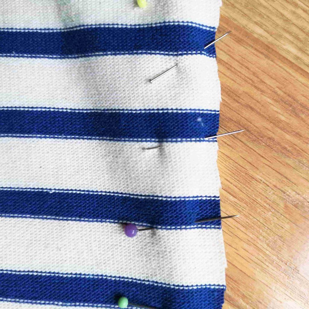 tutoriel raccord rayures jersey