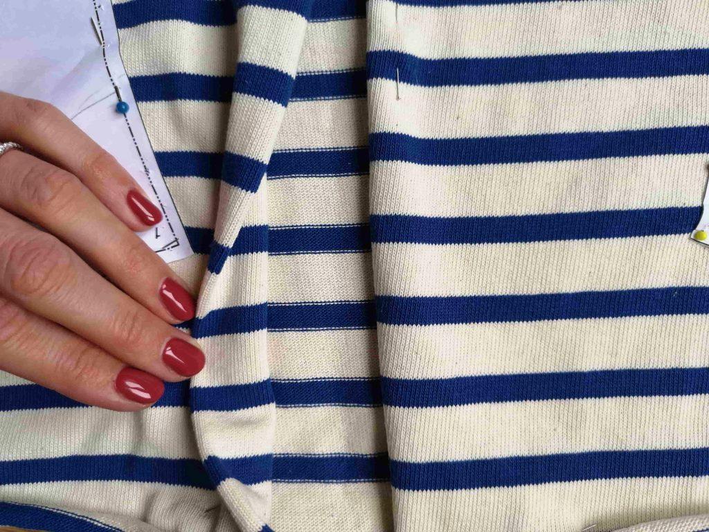 tutoriel raccord rayures et jersey