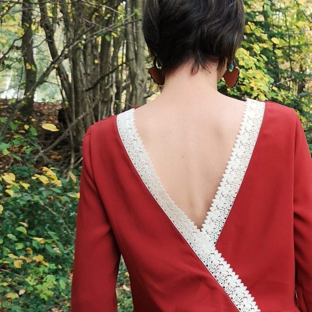 blouse sue mondial tissus en crêpe